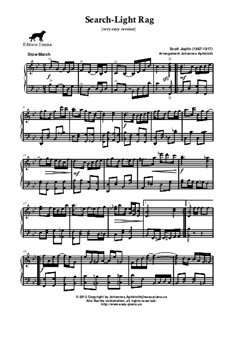 Search-Light Rag, Ragtime by Scott Joplin [very easy version]